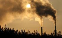 Poluição na cidade indiana de Lahore, em 6 de outubro de 2021 (Arif ALI/AFP)
