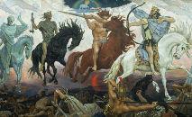'Quatro Cavaleiros do Apocalipse' (1887), por Viktor Vasnetsov (RNS/Creative Commons)