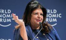 A empresária foi eleita pela revista 'Time' como uma das mulheres mais influentes do mundo (Benedikt von Loebell/WEF/AFP)