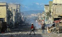 No país caribenho Haiti, que está em crise, pelo menos 15 missionários americanos foram sequestrados por uma gangue armada (Chandan Khanna/AFP)
