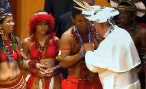 Papa Francisco durante Sínodo da Amazônia (Andreas Solaro/AFP)