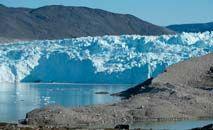 Lago na Groelândia, onde derretimento do gelo ocorre por mais tempo a cada ano (Sean Gallup/Getty Images/AFP)