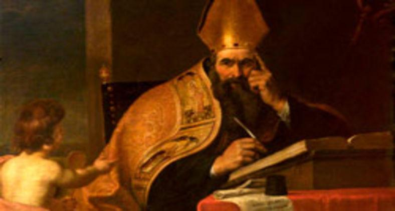 """Tela de Gerard Seghers (1591?""""1651), 'Os quatro doutores da Igreja Ocidental: Santo Agostinho de Hipona' (Wikicommons)"""