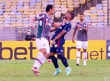 Atacante do tricolor carioca agrediu jogador do Fortaleza (Reprodução TV Globo)