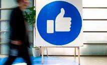 Novos vazamentos atingem o Facebook, acusada de fomentar a polarização, incluindo com o recurso de 'curtidas' (AFP)