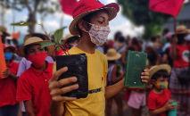 Celebração e cortejo em defesa da educação e do legado de Paulo Freire, em comemoração aos seu centenário, em Belém do Pará (Brenda Balieiro/Fotos Públicas)