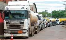 Greve dos tanqueiros deixou vários postos sem combustível na capital, Belo Horizonte, no fim de semana (SindTanque/Divulgação)