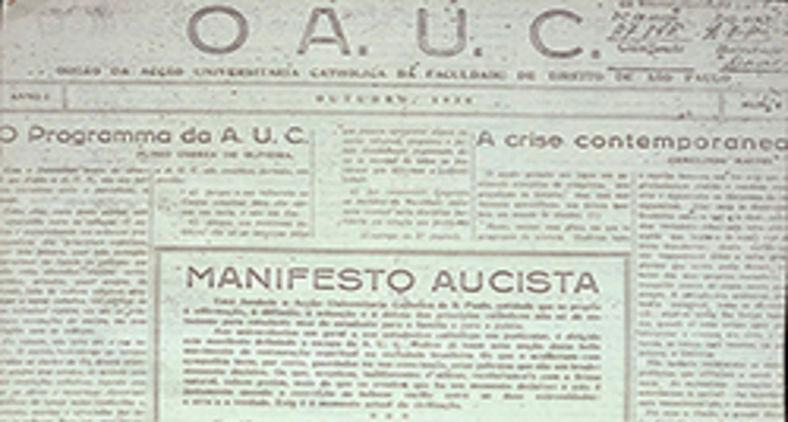 Orgão da Ação Universitária Católica da Faculdade de Direito de São Paulo (AUC) (P.P.Pyres/Wikimedia)