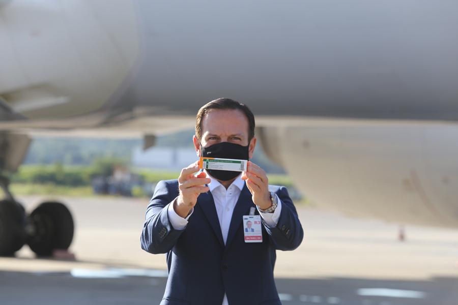Doria é o responsável pela chegada da Coronavac no Brasil