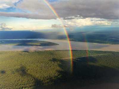 Vista aérea do Rio Solimões, na Amazônia: estado está revendo o marco legal do mecanismo que garante remuneração por carbono que deixa de ser emitido (Divulgação/Carlos Durigan – WCS Brasil)
