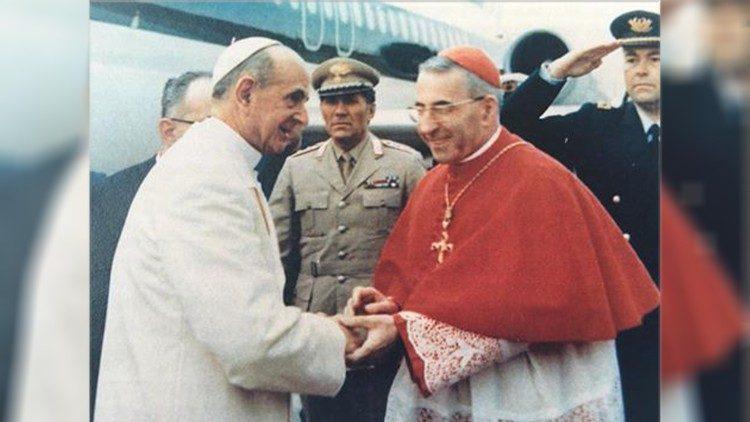 Papa Paulo VI com Albino Luciani (Reprodução Vatican News)