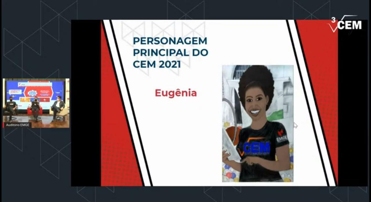 Apresentação da Eugênia, personagem representante do campeonato. (NECOM Dom Helder e EMGE)