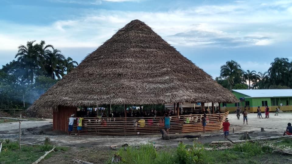 Maloca da aldeia São Luís, no Vale do Javari (Thodá Kanamari)