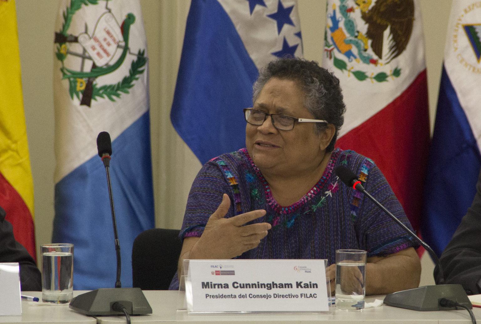 Myrna Cunningham é reconhecida mundialmente por seu trabalho com povos indígenas. Em entrevista à Pública, ela falou sobre o relatório produzido pela ONU e a política de meio ambiente do governo Bolsonaro (Gabriel Mariaca)