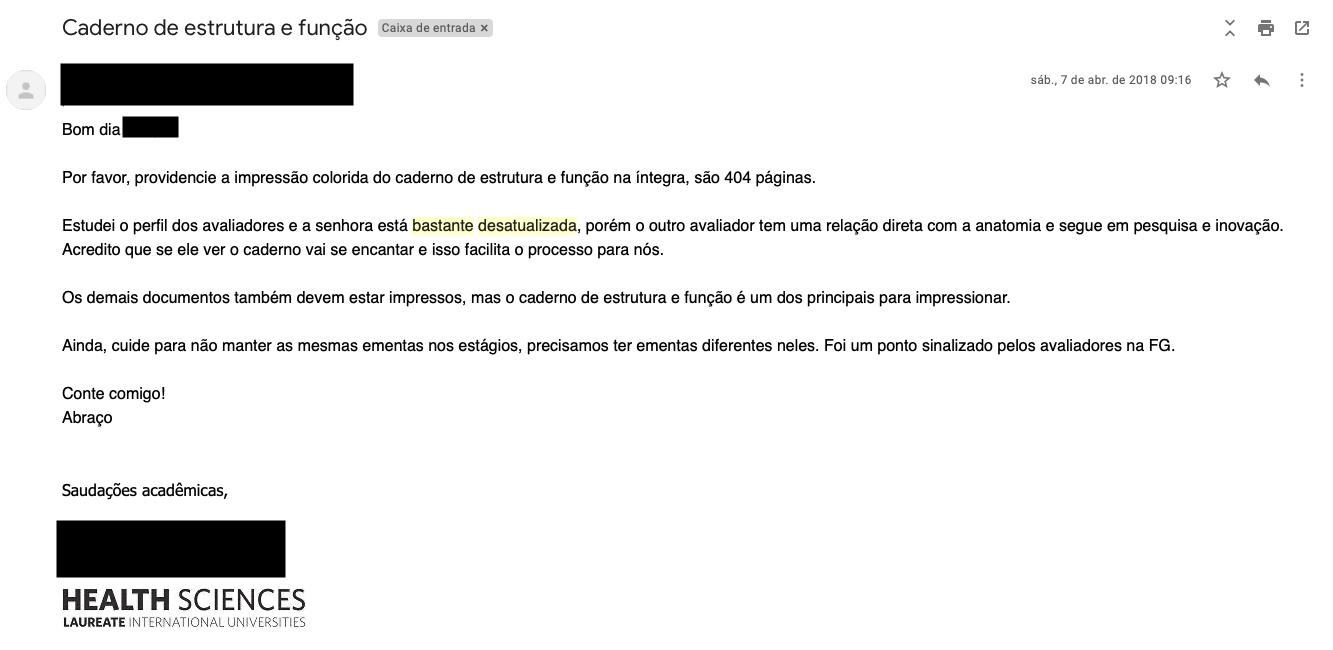 E-mail indica que avaliadores do MEC eram stalkeados antes das visitas do MEC