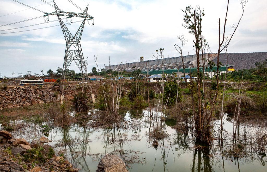 Hidrelétrica de Belo Monte, no rio Xingu, provoca impactos ambientais (Lilo Clareto/Amazônia Real/2018)