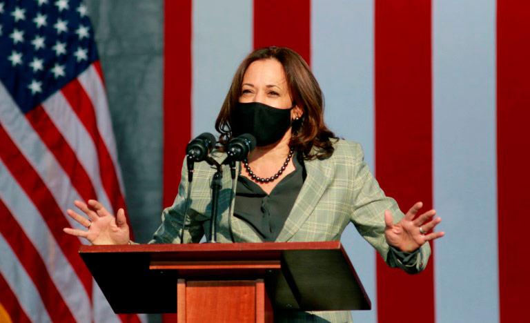 A ex-procuradora e senadora Kamala Harris (Ronda Churchill/AFP)
