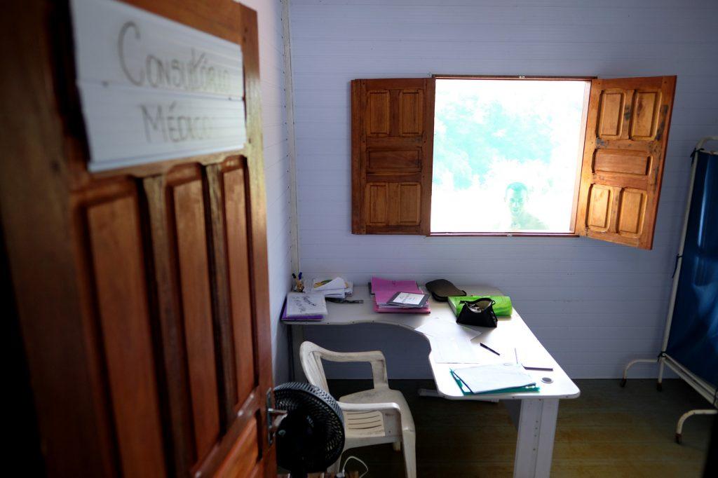 Posto de saúde sem médico no rio Tiquié (Alberto César Araújo/Amazônia Real/2019)