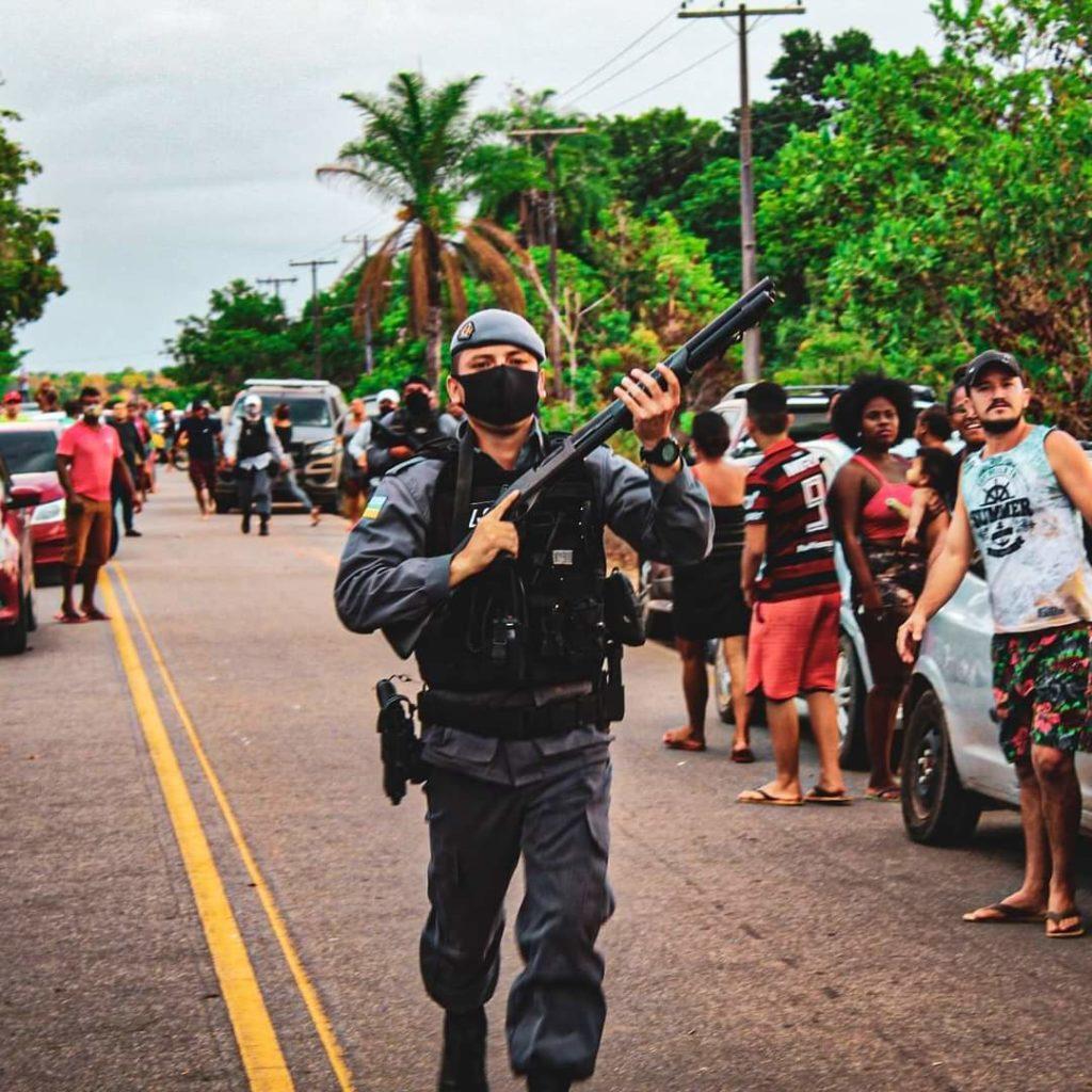 Protesto no quilombo Casa Grande (Foto cedida: Dayane Oliveira/@dayfotografiaap)