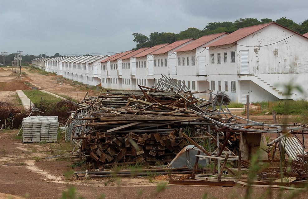 Obras do projeto Minha Casa, Minha Vida em Ananindeua. (Foto: Kleyton Silva/Amazonia Real)
