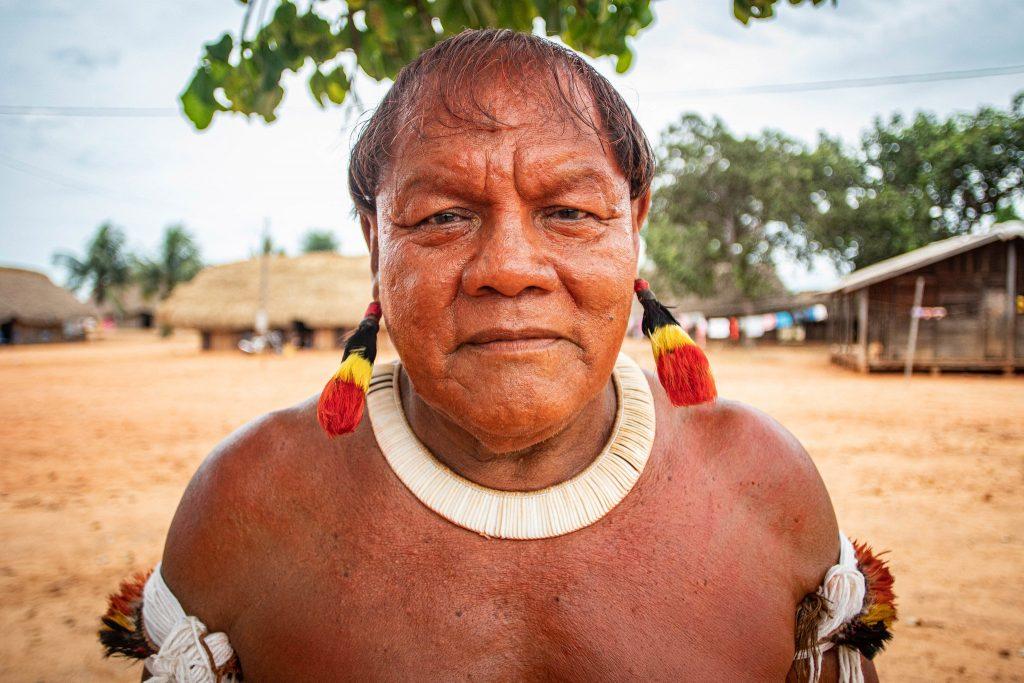 Aritana no Encontro Mebengokrê no Xingu em janeiro de 2020 (Mídia Ninja)