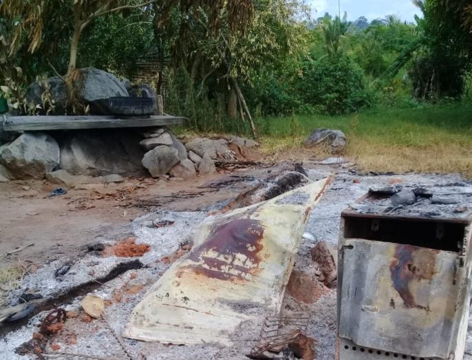 Moradores dizem que incêndios sãos criminosos e tem ligação com fazendeiro que se diz dono da terra