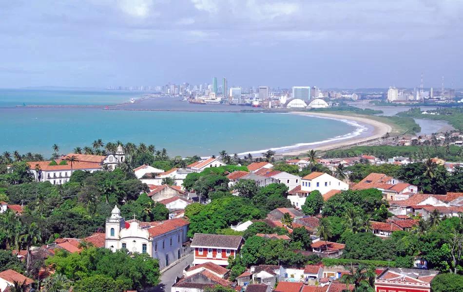 Vista de Olinda para o Recife (Foto: Prefeitura de Olinda)