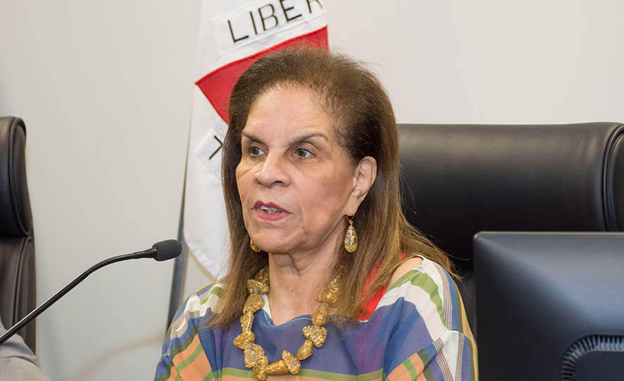 A desembargadora Márcia Maria Milanez foi a primeira mulher a ocupar um cargo de direção no Tribunal mineiro e a presidir o Órgão Especial. (Eric Bezerra/TJMG)