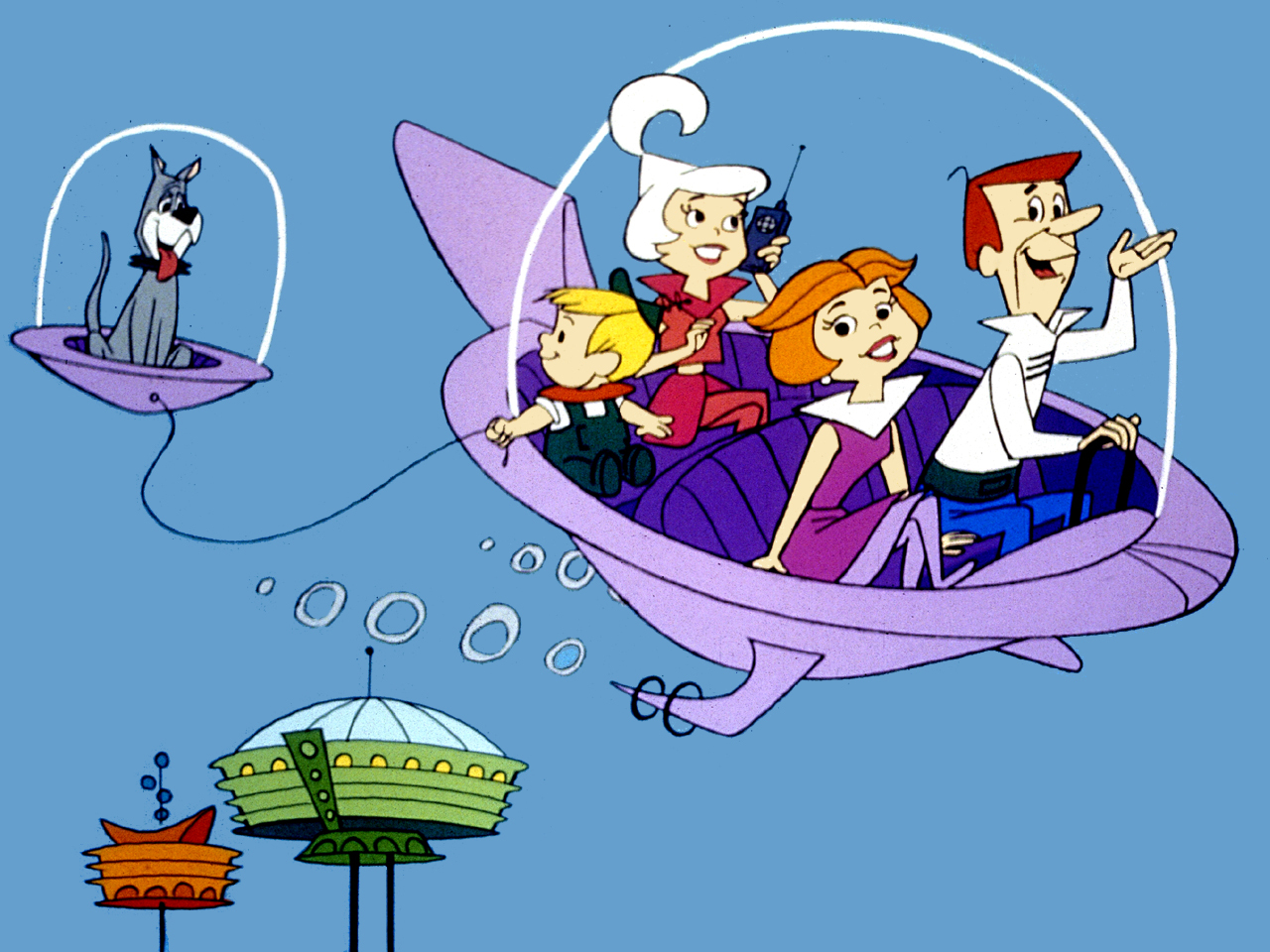 Na série de TV Os Jetsons, objetos cuidavam automaticamente de tarefas diárias.
